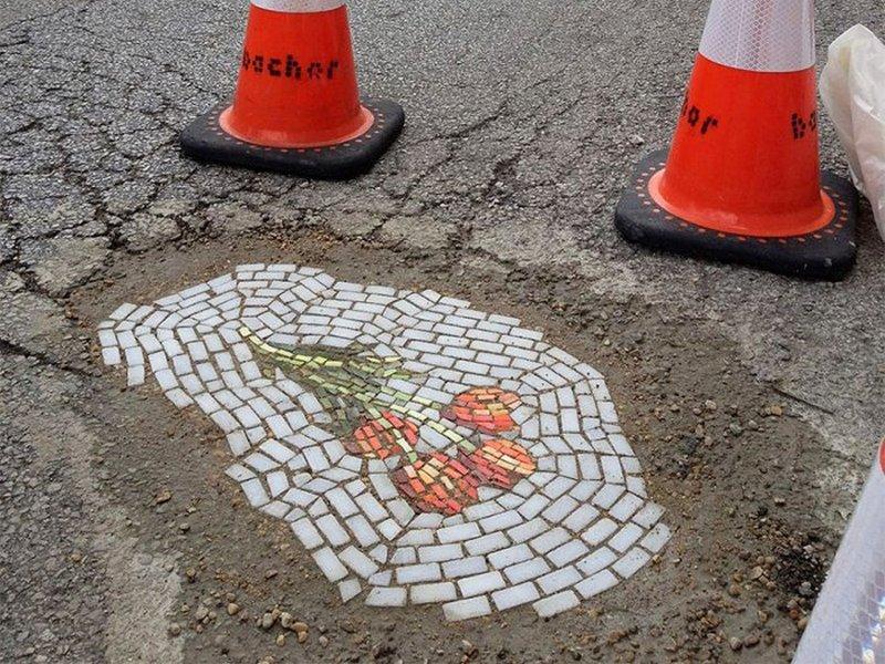 Уличните мозаици на Џим Бејчор