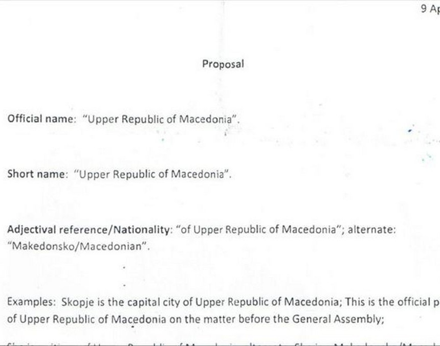 Документ за името