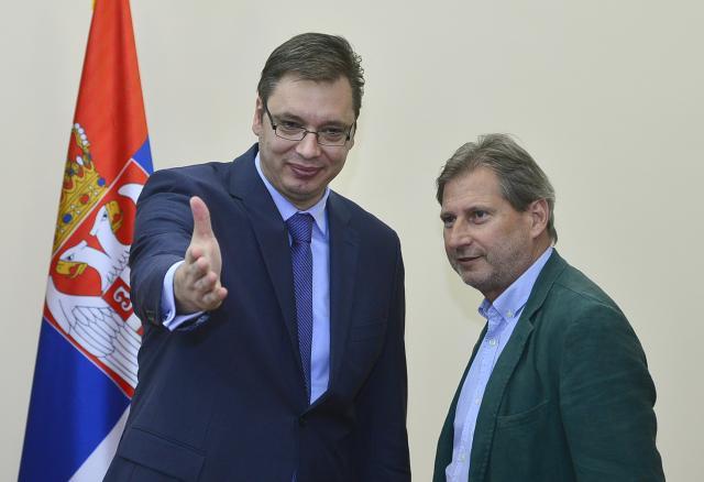 Новиот еврокомесар за претпристапни прговори, Јоханес Хан  на средба со српскиот премиер Александар Вучиќ