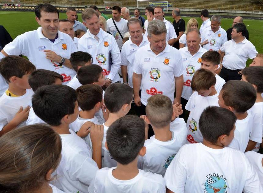 Целта на проектот е да се промовира Спортски Бон -Тон како модел на интегрирање на децата од школска возраст во системот на спортување, дружење, играње