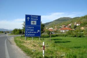 Патот кон граниќниот премин Ќафасан