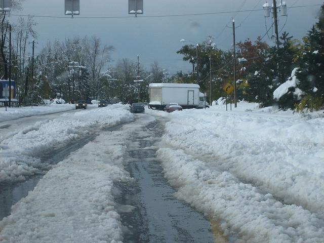 Јужно од Бафало за помалку од 24 часа наврнал еден ипол метар снег