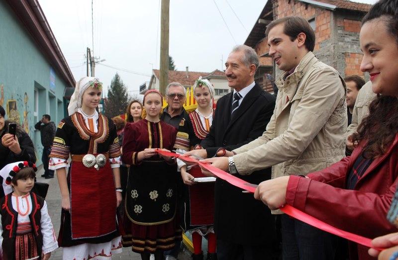отворање на новата градинка во Жорче Петров
