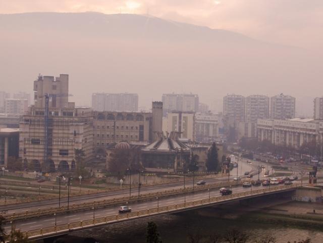 магла загадување Скопје