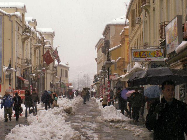 Битола снег