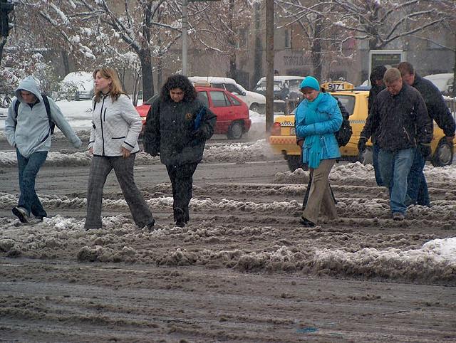 Скопје снег улица