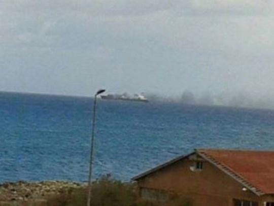 танкер бомбардиран