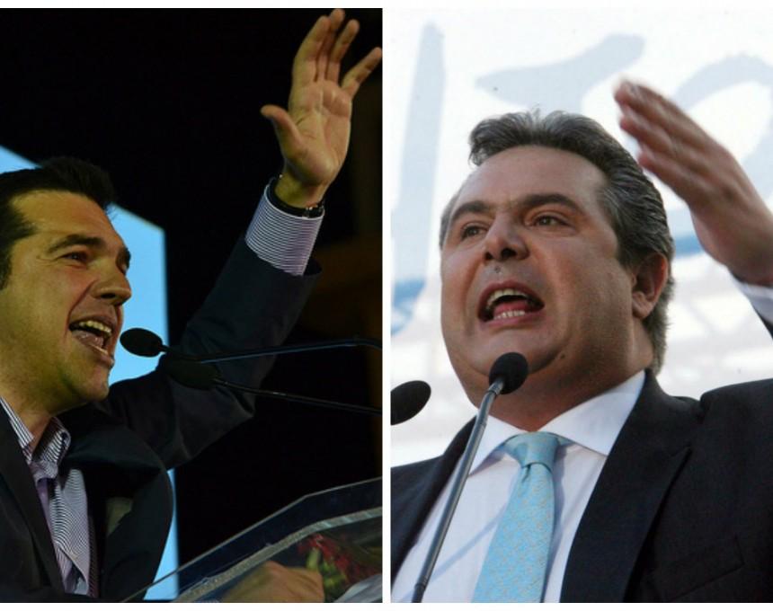 Алексис Ципрас и Панос Каменос