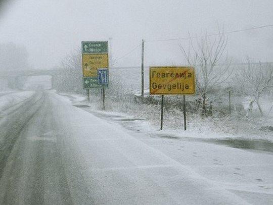 Гевгелија автопат зима снег