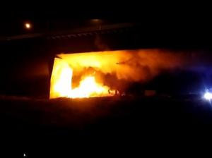 мост Варшава пожар