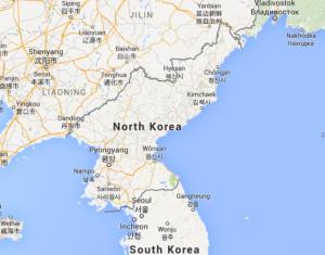 Северна Кореја мапа