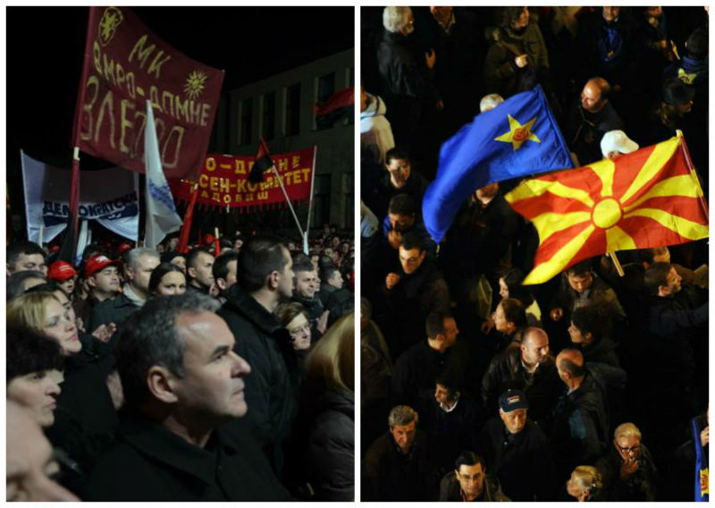 ВМРО-ДПМНЕ и СДСМ митинзи