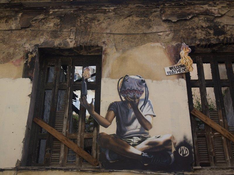 графити Атина