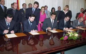Potpisuvanje ramkoven dogovor