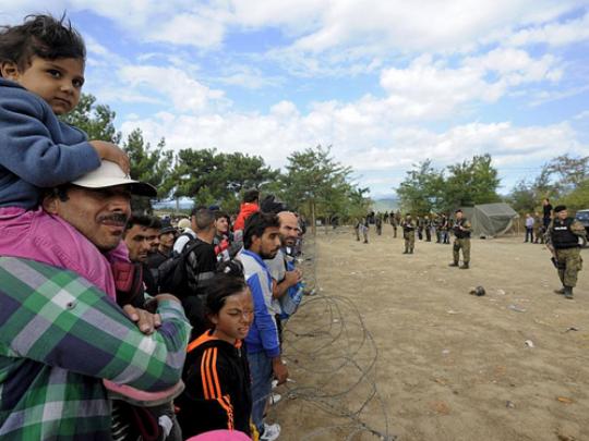 Мигранти граница Гевгелија