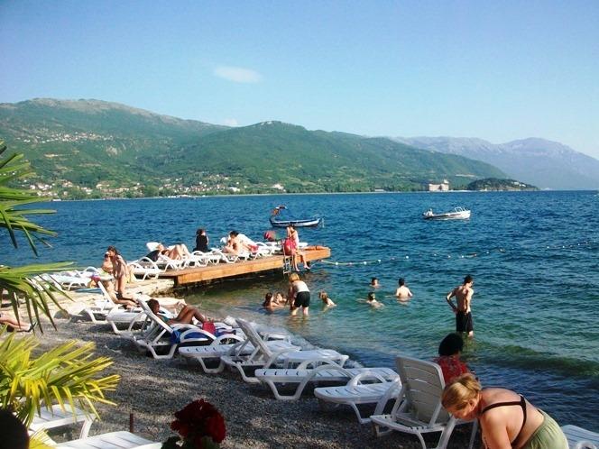 Охрид, плажа