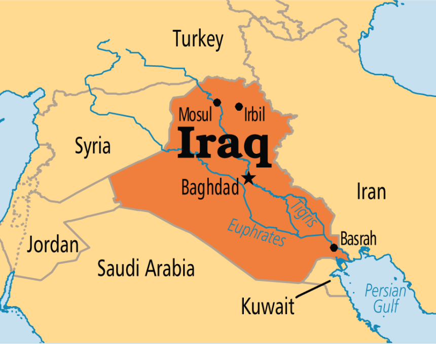 irak mapa Ирак Мапа