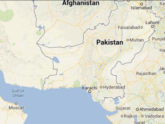 Пакистан мапа