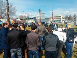 protest,Albanci, krst (3)
