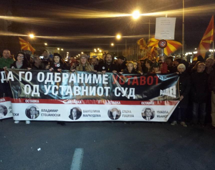 ustaven protest