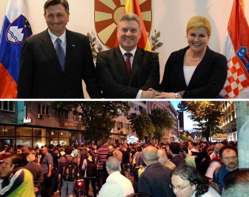 collage - sredba ivanov i protesti