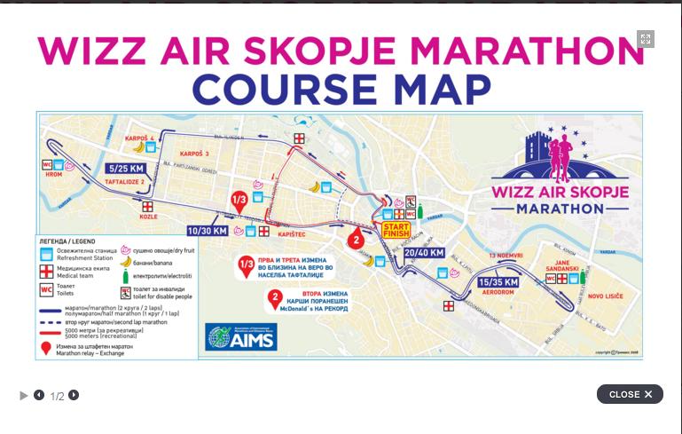 mapa skopski maraton