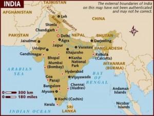 indija mapa