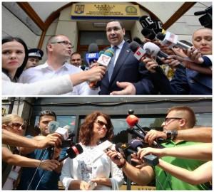 Поранешниот премиер на Романија, Виктор Понта по распитот во ДНА и поранешната пратеничка од ВМРО-ДПМНЕ и актуелен член на ДИК по давањето исказ во СЈО