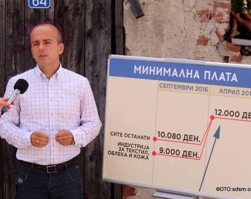 Dragan Tevdovski, minimalna plata