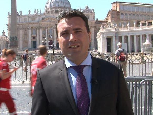 zaev vo Vatikan