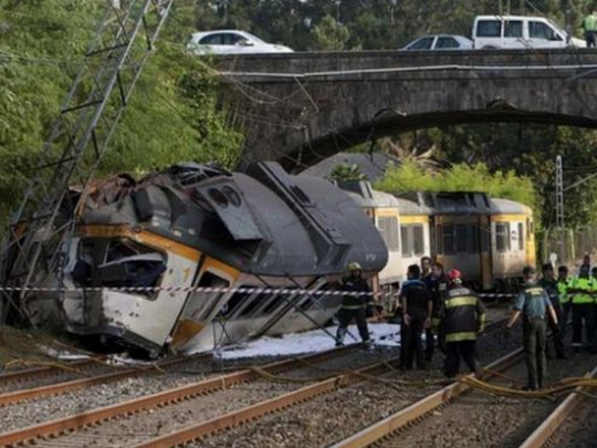 zeleznicka nesreka Spanija