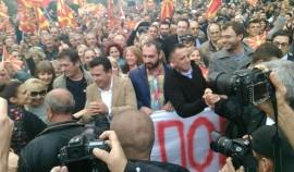 граѓански марш Борбата продолжува, гласот победува