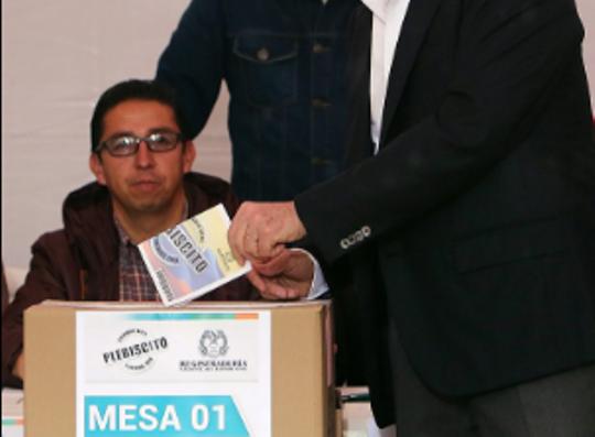 kolumbija referendum