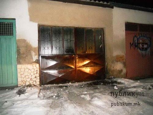 zapalena garazata na novinarot na publikum zoran milosheski 25012017
