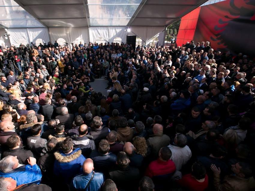 protest albanija