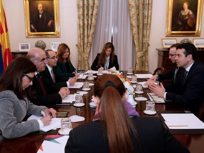 Minister for Foreign Affairs George W. Vella meets Foreign Minister of Macedonia Nikola Poposki-Ministry for Foreign Affairs, Valletta-29-3-2017