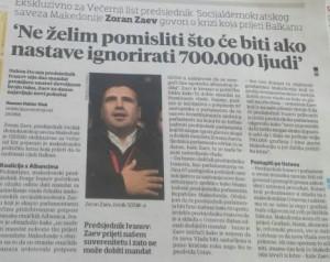 Zoran Zaev intervju Vecernji list