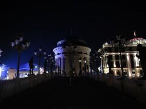 grad skopje osvetluvanje