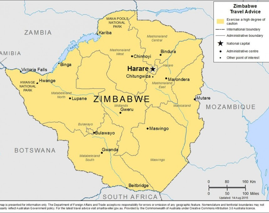 zimbabve mapa