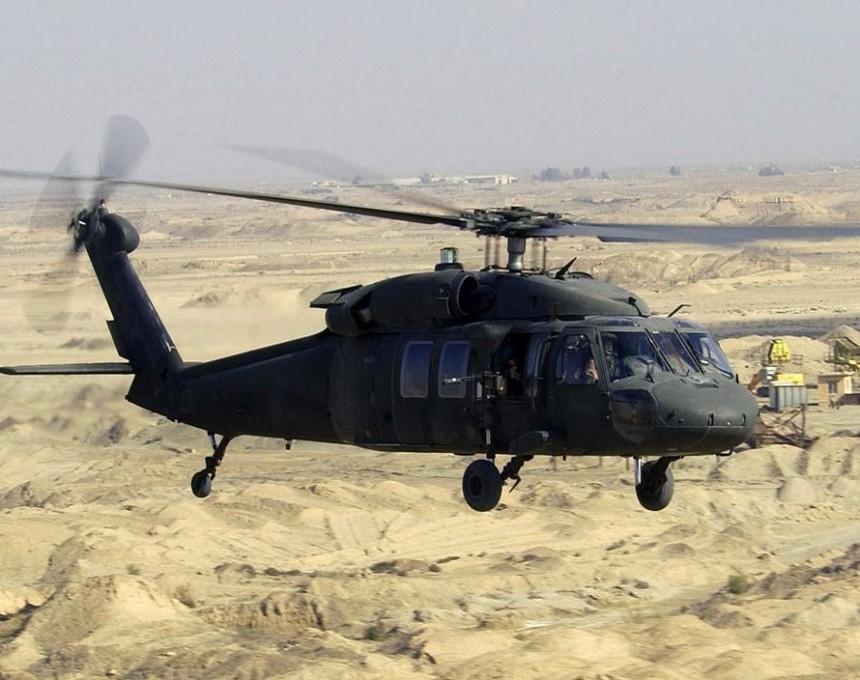 Blek hok helikopter