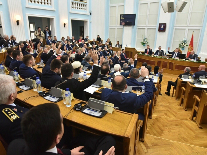 Crna Gora Parlament glasanje za NATO - 28apr17 - Skupshtina Crne Gore