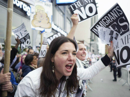 Протести против Трамп