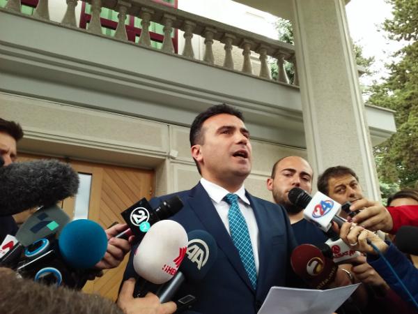 Zoran Zaev rezidencija Ivanov po dobivanje mandat 17maj17 - Meta