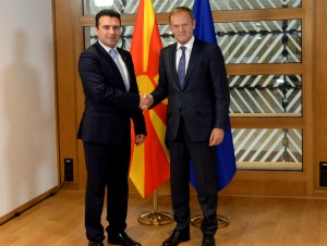 Zoran Zaev Donald Tusk Brisel 12jun17 - Vlada