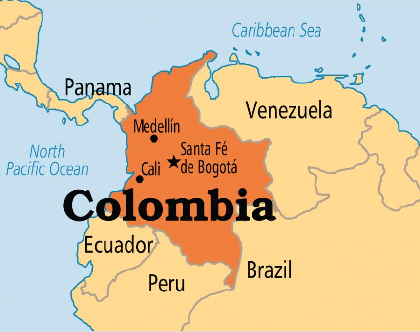 kolumbija mapa Двајца загинати и 11 исчезнати во експлозија во рудник за јаглен  kolumbija mapa