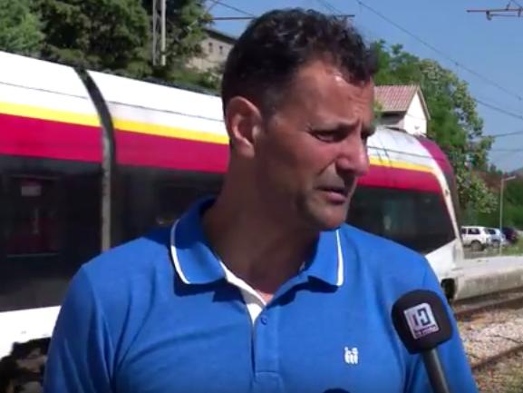 штрајк Колска Велес блокада возови 5јул17 - скриншот