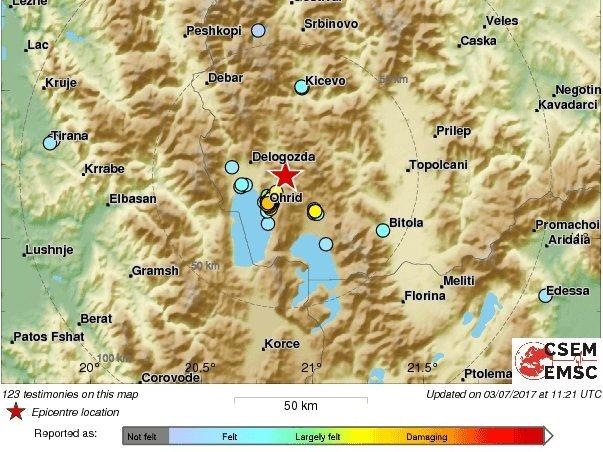 zemjotres Ohrid