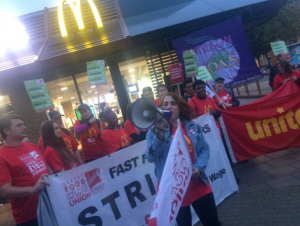 mekdonalds strajk