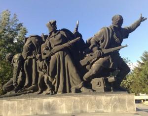 Osloboditeli na Skopje spomenik