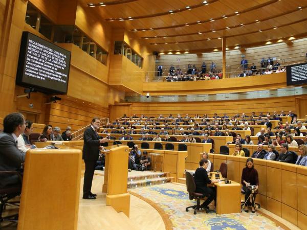 Shpanija Senat glasanje protiv nezavisnost na Katalonija i Marijano Rahoj - Twitter profil na Rahoj